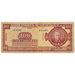 Banco Nacional de Nicaragua. 1954. Issued Banknote.