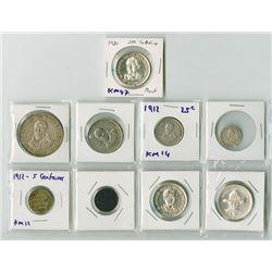 Nicaragua Coin Assortment, 1912 to 1980.