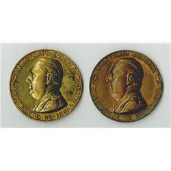 Nicaragua. 1954. Pair of Anastasio Somoza Medals.