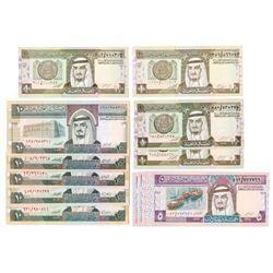 Saudi Arabian Monetary Agency. 1980s-1990s. Group of 17 Issued Notes.