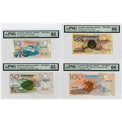 Seychelles Monetary Authority, ND (1979) Specimen Banknote Quartet.