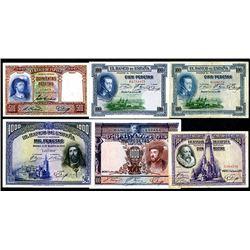Banco de Espana. 1925-31 Dated Issues.