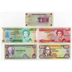 Various Issuers. 1972-1990. Quintet of Issued Radar Notes.