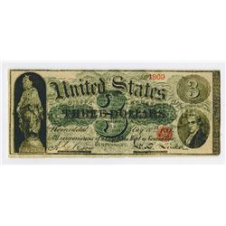 Gibson House ca.1860-70's U.S. Legal Tender Look-a-Like Advertising Note.