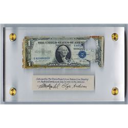 U.S. Silver Certificate,  $1, Series of 1935 E, Salvaged Banknote from S.S. Andrea Dorea.