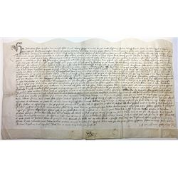 Old document with Possibly Latin or Early English Scrip ca.1400-1600.