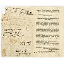Letter from 1832 by Railroad Pioneer Francis Fortune.
