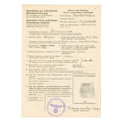 Affidavit Swearing to be Jewish, ca.1930-1940