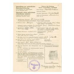 Affidavit Swearing to be Jewish, ca.1930-1940