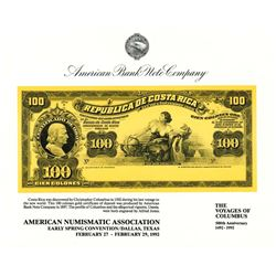 ABNC. 1992. American Numismatic Association Spring Convention (Dallas, TX). Souvenir Card (4).