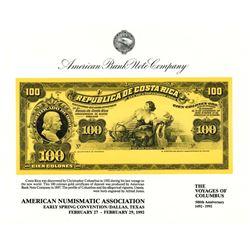 ABNC. 1992. American Numismatic Association Spring Convention (Dallas, TX). Souvenir Card (4).