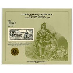 ABNC. 1992. Florida United Numismatists 37th Convention (Orlando, FL). Souvenir Card (5).