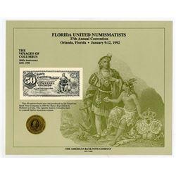 ABNC. 1992. Florida United Numismatists 37th Convention (Orlando, FL). Souvenir Card (5).