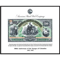 ABNC. 1992. 500th Anniversary of the Voyages of Columbus. Souvenir Card (6).