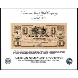 ABNC. 1992. American Numismatic Association 101st Convention (Orlando, FL). Souvenir Card (4).