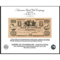 ABNC. 1992. American Numismatic Association 101st Convention (Orlando, FL). Souvenir Card (4).