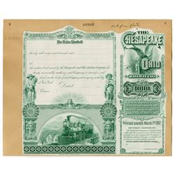 Chesapeake & Ohio Railway Co., 1892 Proof Bond Back