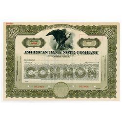 American Bank Note Co., 1920-1930 Specimen Stock Certificate
