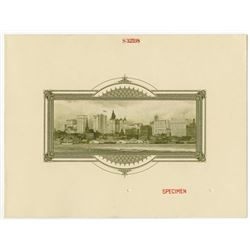 International Plate Printers Specimen Cover ca.1920's with NYC Vignette.