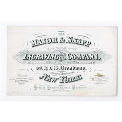Major & Knapp ca. 1860-70's Advertising Business Card on Coated Stock