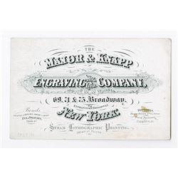 Major & Knapp ca. 1860-70's Advertising Business Card on Coated Stock