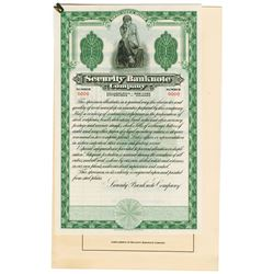 Security Banknote Co., 1930 Sample Certificate Advertising Sheet.
