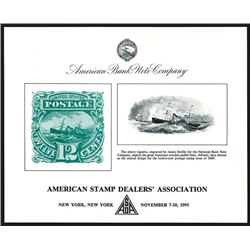 ABNC. 1991. American Stamp Dealers' Association (New York, NY). Souvenir Card (6).