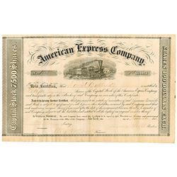 American Express Company, 1856 Stock Certificate signed by Wells, Fargo, Holland and Butterfield.
