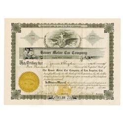 Home Motor Car Co., 1910 Issued Stock Certificate