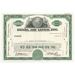 Delta Air Lines, Inc., ca.1940-1950 Specimen Stock Certificate