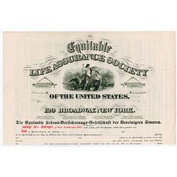 Equitable Life Assurance Society - Endowment - German Free Tontine, ca.1890-1910 Specimen Policy