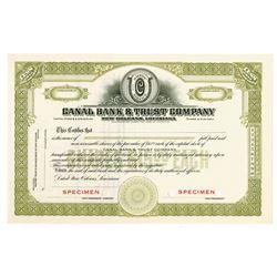 Canal Bank & Trust Co., ca.1920-1930 Specimen Stock Certificate