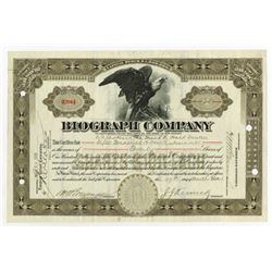 Biograph Company, 1916 Issued Stock Certificate