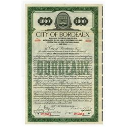 City of Bordeaux Specimen Gold Bond.