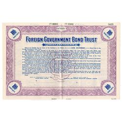 Foreign Government Bond Trust, ca.1890-1900 Specimen Bond