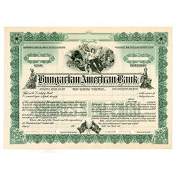 Hungarian American Bank of New York 1910-20, Specimen Stock.