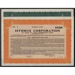 Isthmus Corporation, Republic of Panama 1932 Bond Pair