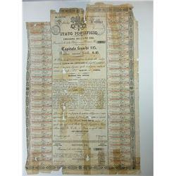 Papal State (Stato & Governo Pontificio) $25 Gold Bond 1866.