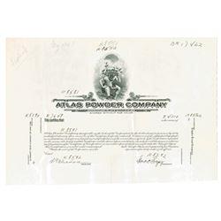 DE. Atlas Powder Company, ca.1910-20 Proof Stock Certificate.