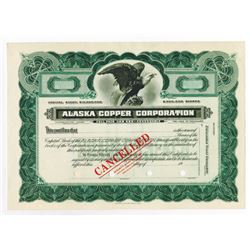 Alaska Copper Corp., ca.1900-1920 Specimen Stock Certificate