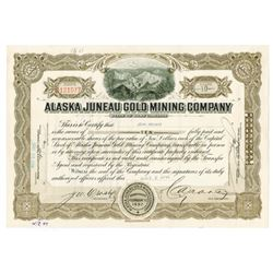 Alaska Juneau Gold Mining Co., 1945 Issued Stock Certificate