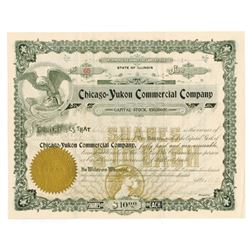 Chicago-Yukon Commercial Co., 1898 Issued Stock Certificate
