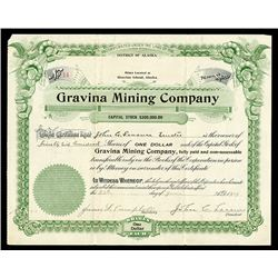 Gravina Mining Co. 1897 Issued Stock.