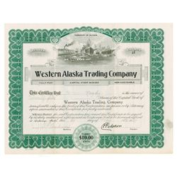 Western Alaska Trading Co., 1927 Issued Stock Certificate