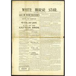 White Horse Star, 1901 Mining Relate Newspaper.