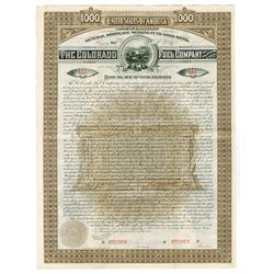 Colorado Fuel Co., 1889 Specimen Bond