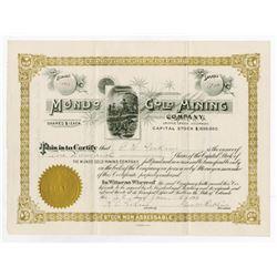Mundo Gold Mining Co. Cripple Creek Stock Certificate.