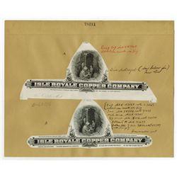 Isle Royale Copper Co. ND (ca. 1910). Archival Proof Vignette Pair.