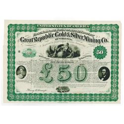 Great Republic Gold & Silver Mining Co., 1867 Issued Bond