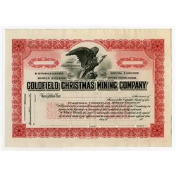 Goldfield Christmas Mining Co., ca.1920-1930 Specimen Stock Certificate